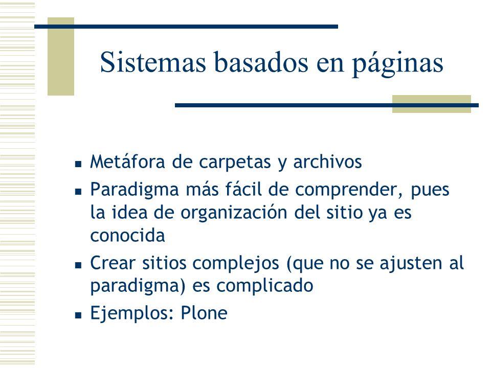 Sistemas basados en páginas