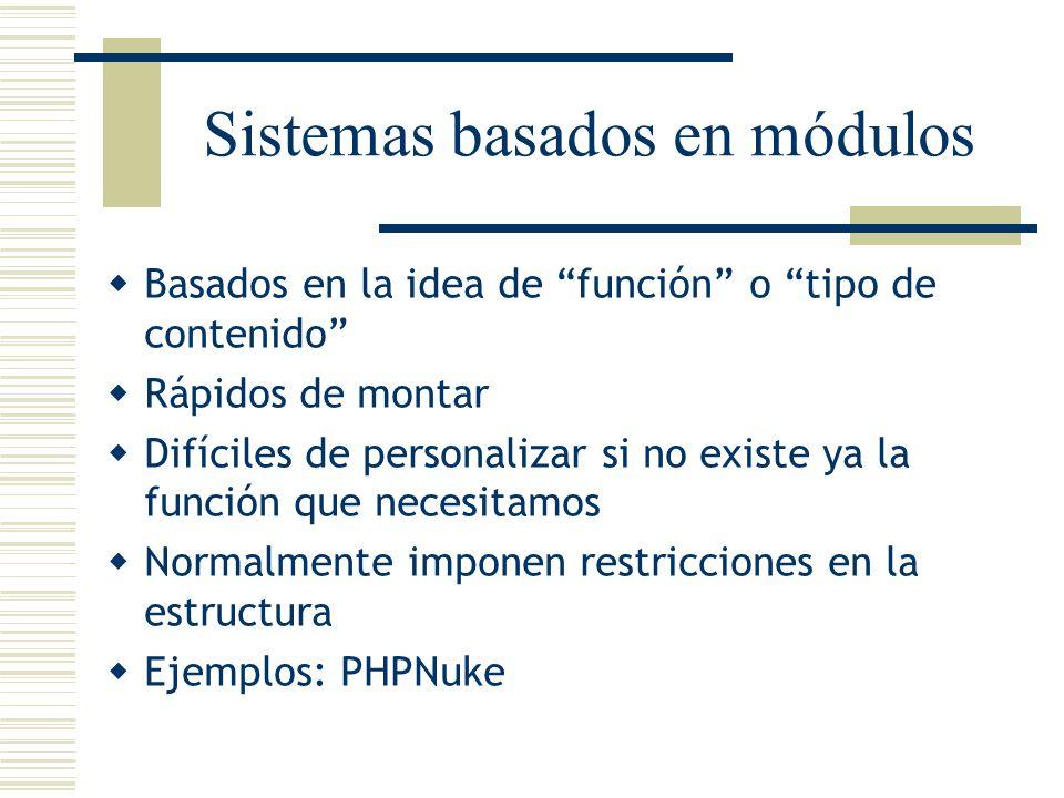 Sistemas basados en módulos