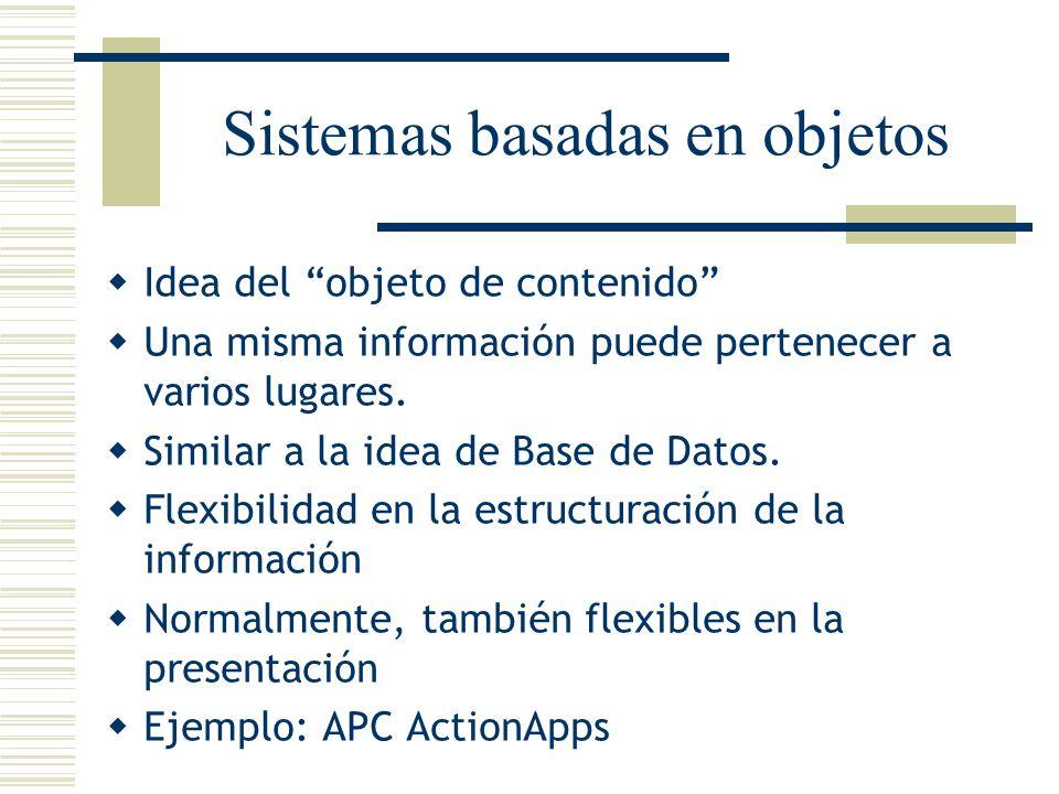 Sistemas basadas en objetos