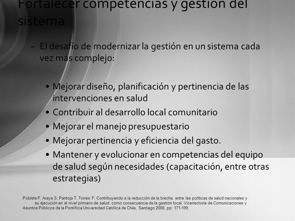 Factores críticos para su mejor desarrollo: Fortalecer competencias y gestión del sistema