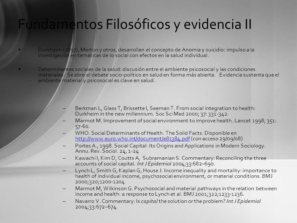 Fundamentos Filosóficos y evidencia II