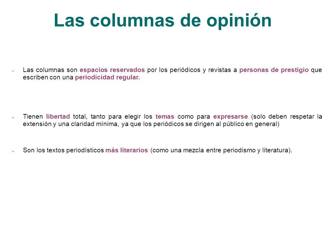 Las columnas de opinión