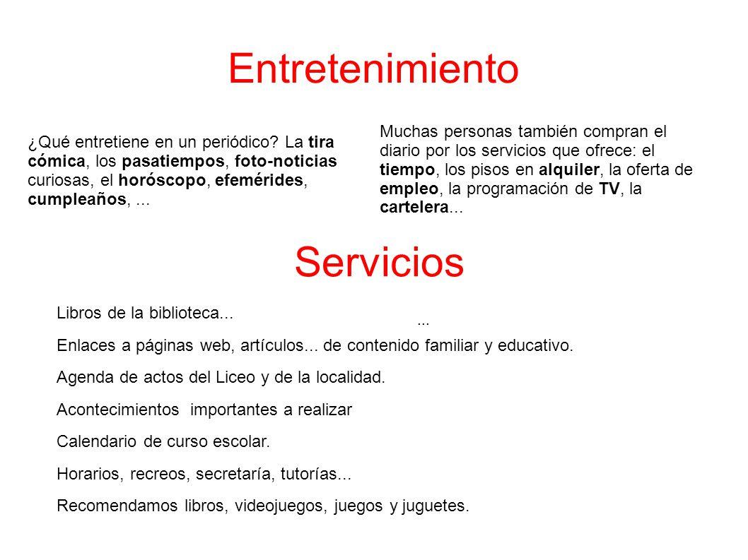 Entretenimiento Servicios