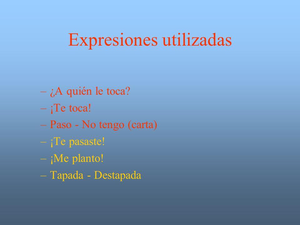 Expresiones utilizadas