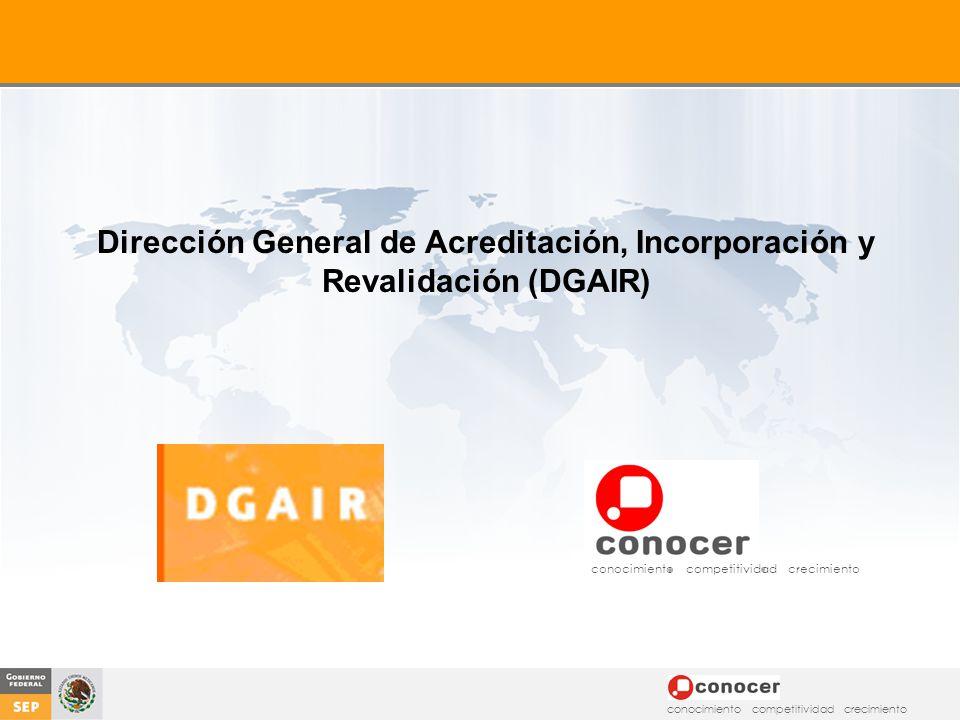 Dirección General de Acreditación, Incorporación y Revalidación (DGAIR)