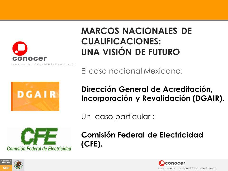 MARCOS NACIONALES DE CUALIFICACIONES: UNA VISIÓN DE FUTURO