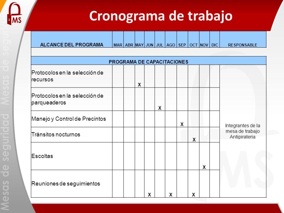 PROGRAMA DE CAPACITACIONES