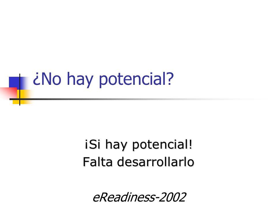 ¡Si hay potencial! Falta desarrollarlo eReadiness-2002
