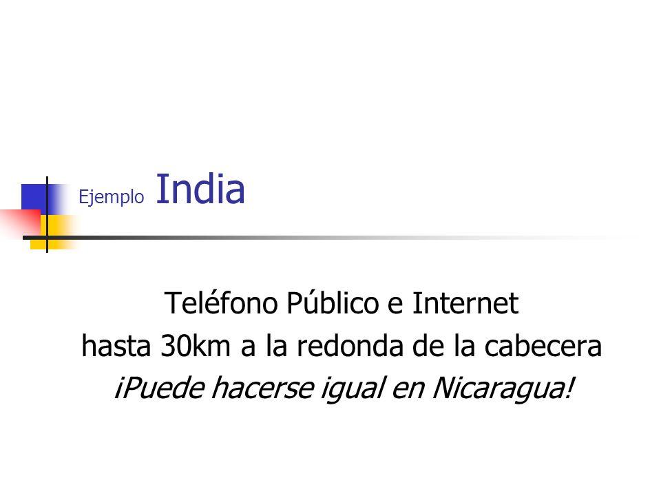 Teléfono Público e Internet hasta 30km a la redonda de la cabecera