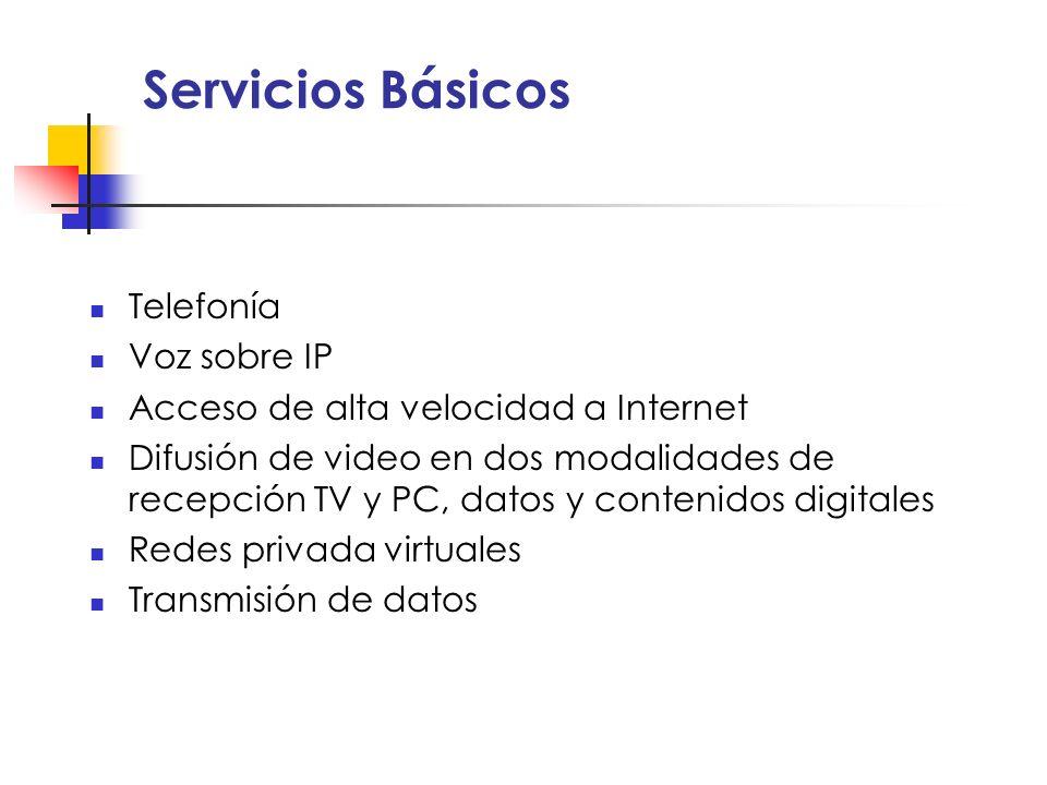 Servicios Básicos Telefonía Voz sobre IP