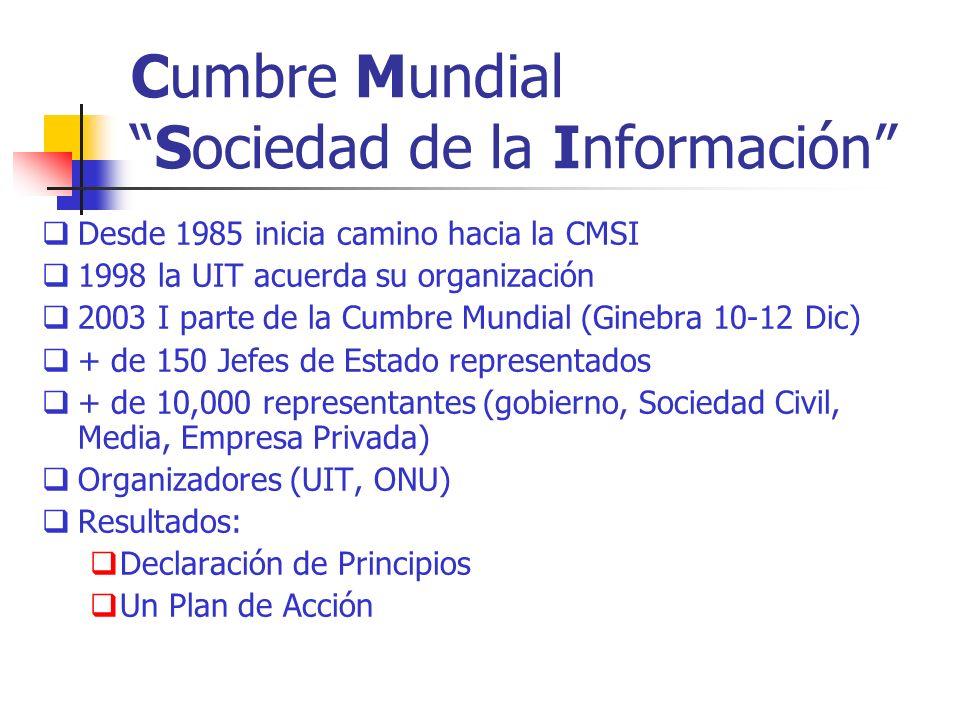 Cumbre Mundial Sociedad de la Información