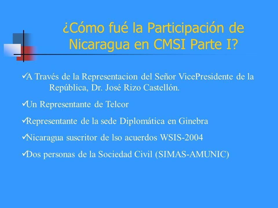 ¿Cómo fué la Participación de Nicaragua en CMSI Parte I