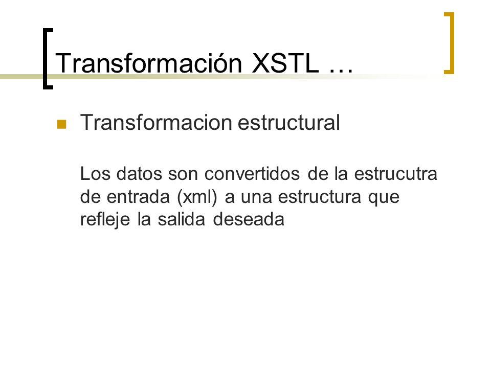 Transformación XSTL …