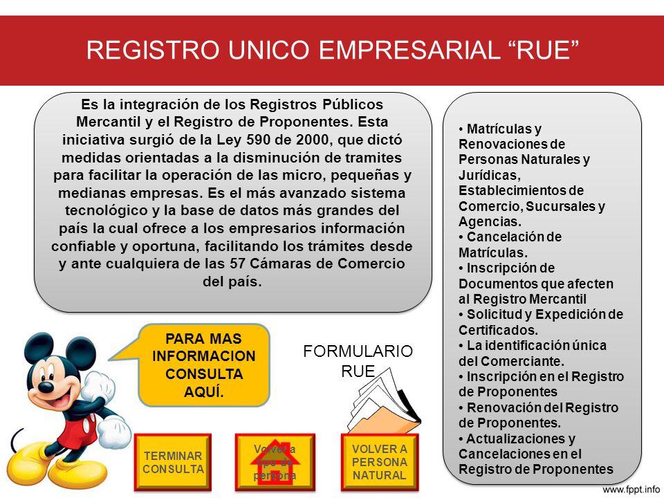 REGISTRO UNICO EMPRESARIAL RUE