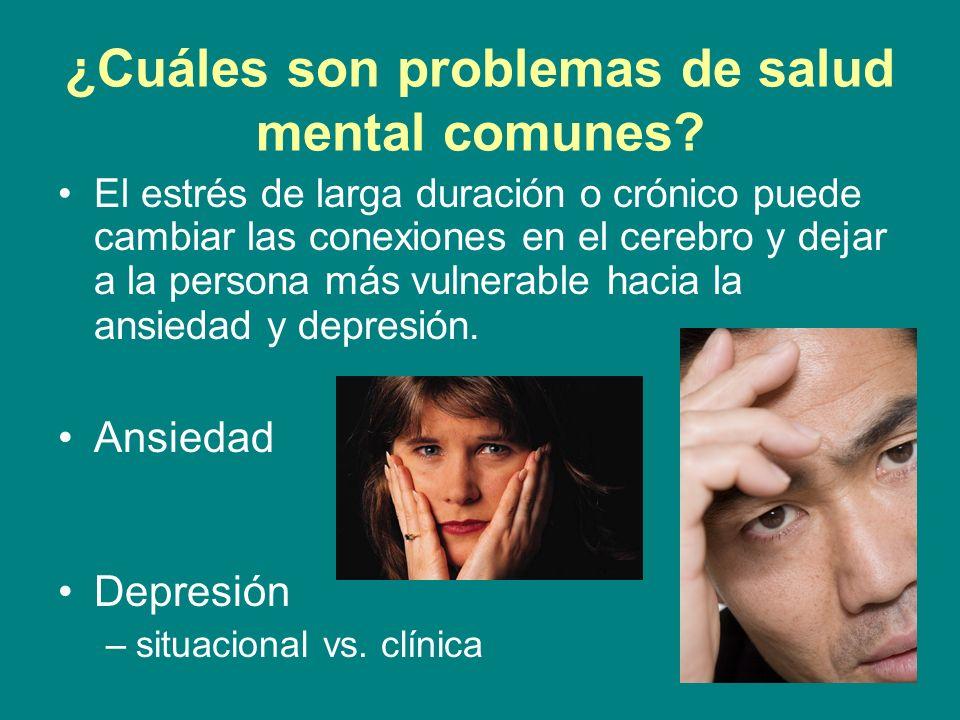 ¿Cuáles son problemas de salud mental comunes