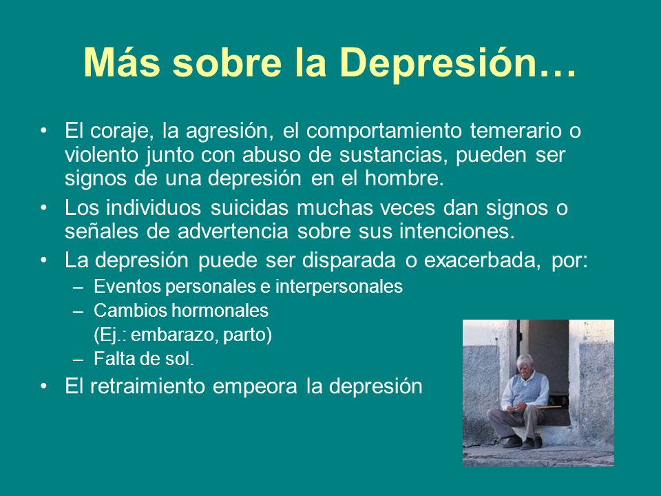 Más sobre la Depresión…