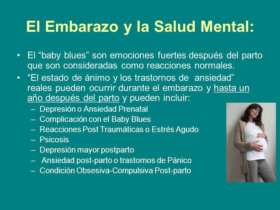 El Embarazo y la Salud Mental:
