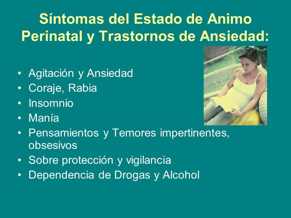 Síntomas del Estado de Animo Perinatal y Trastornos de Ansiedad: