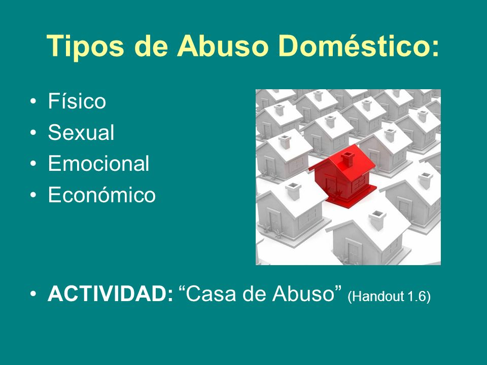Tipos de Abuso Doméstico: