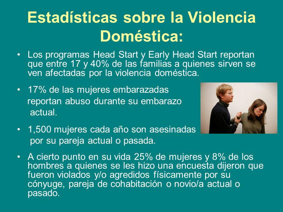Estadísticas sobre la Violencia Doméstica: