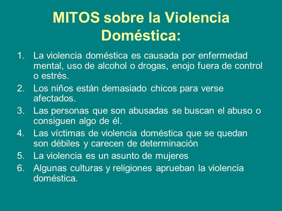 MITOS sobre la Violencia Doméstica: