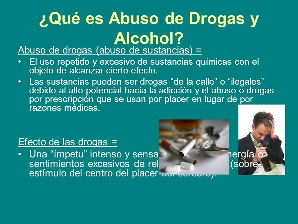 ¿Qué es Abuso de Drogas y Alcohol