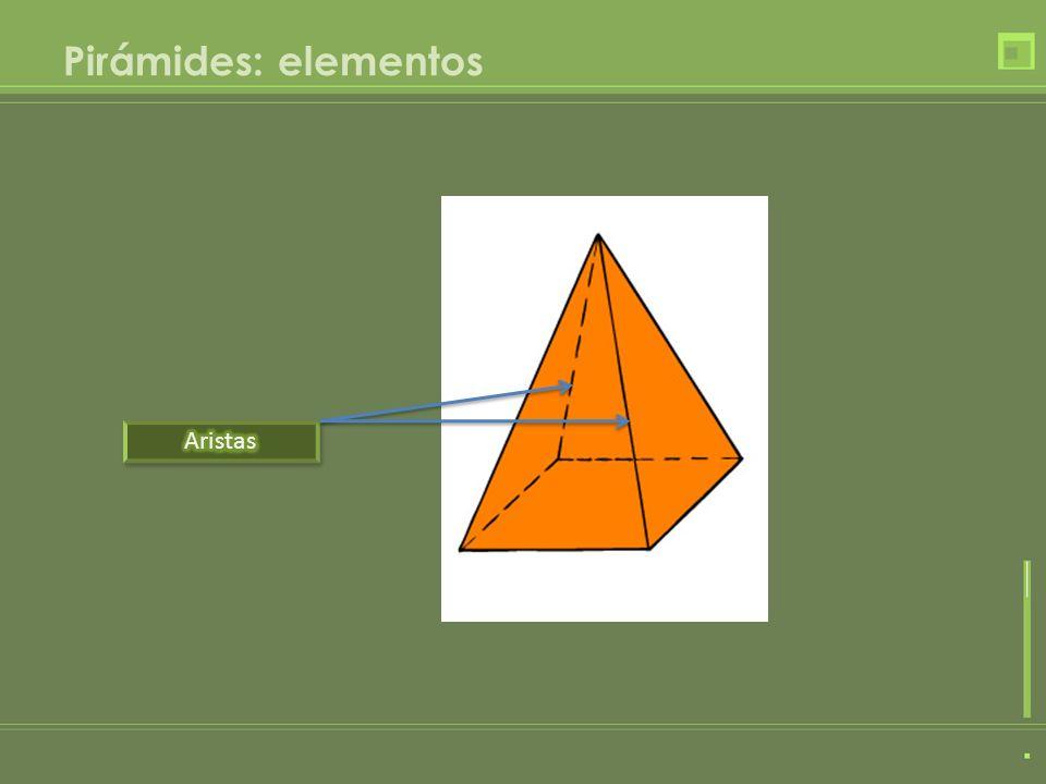 Pirámides: elementos Aristas