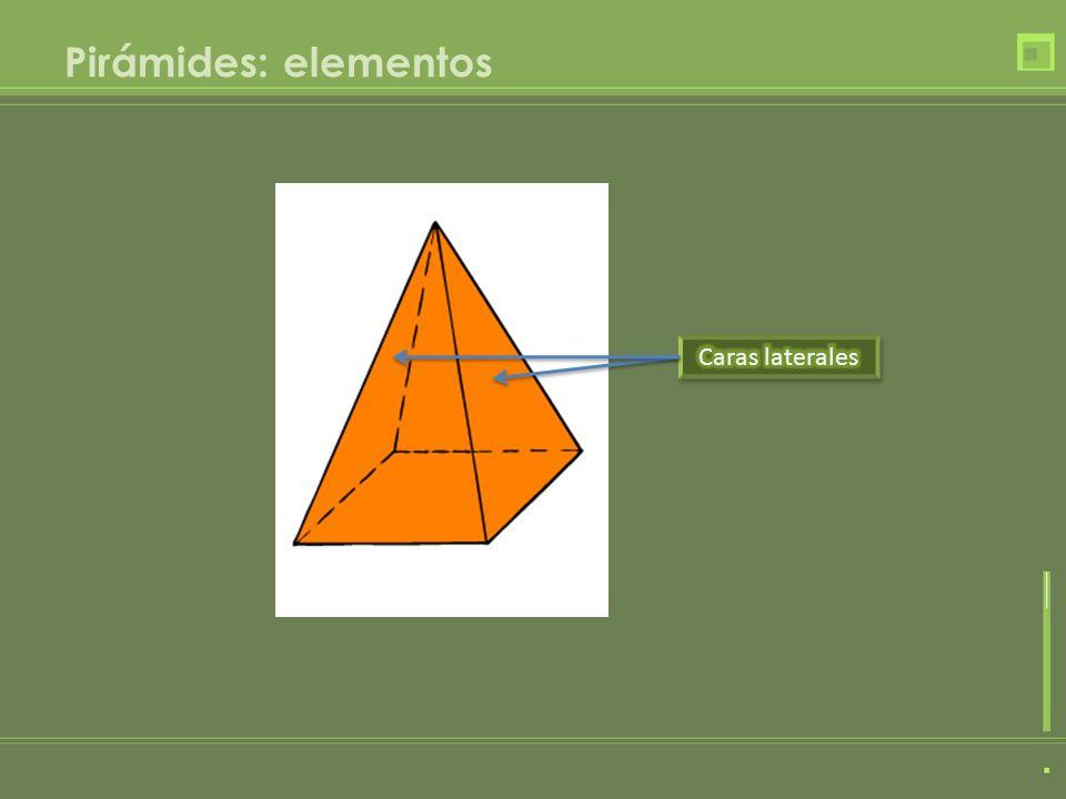 Pirámides: elementos Caras laterales