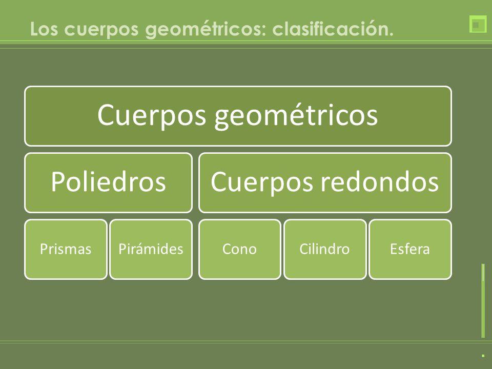 Los cuerpos geométricos: clasificación.