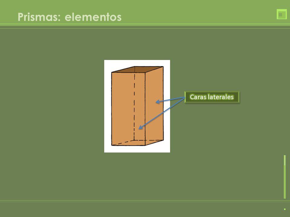 Prismas: elementos Caras laterales