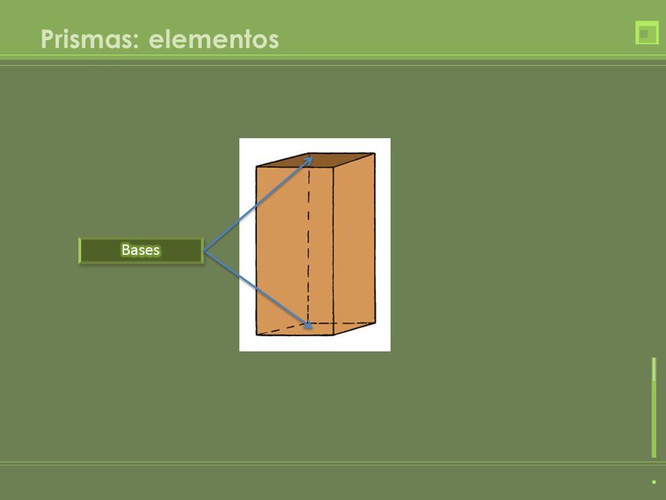 Prismas: elementos Bases