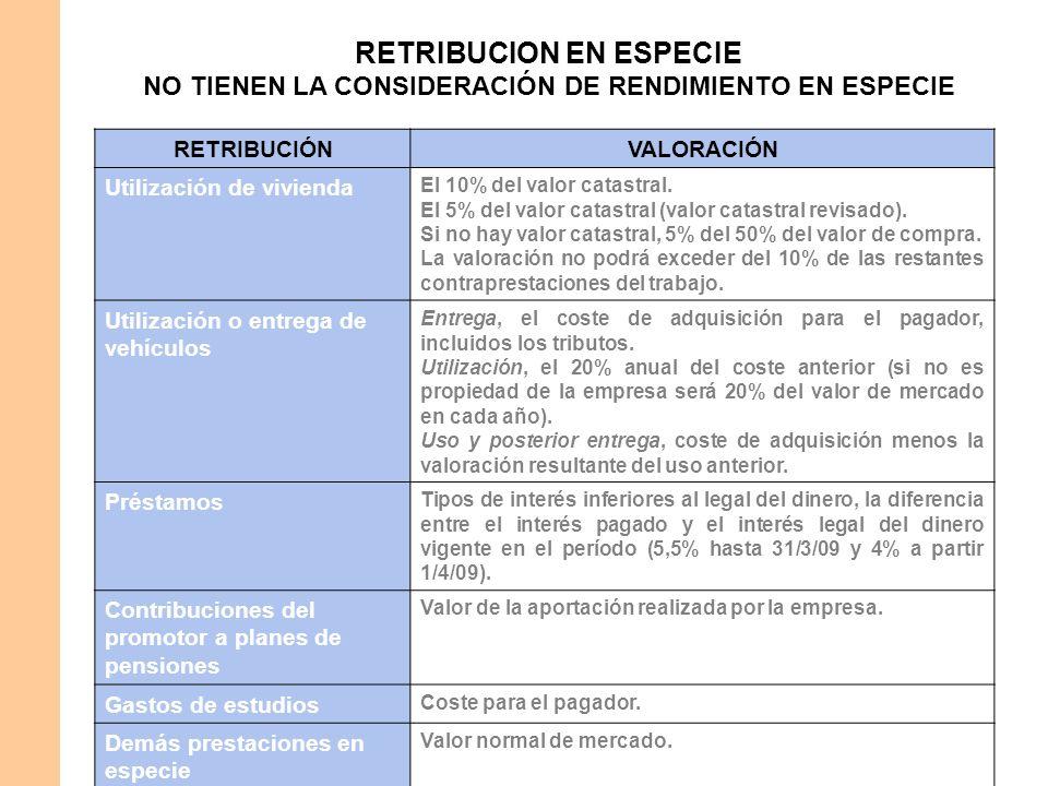 RETRIBUCION EN ESPECIE