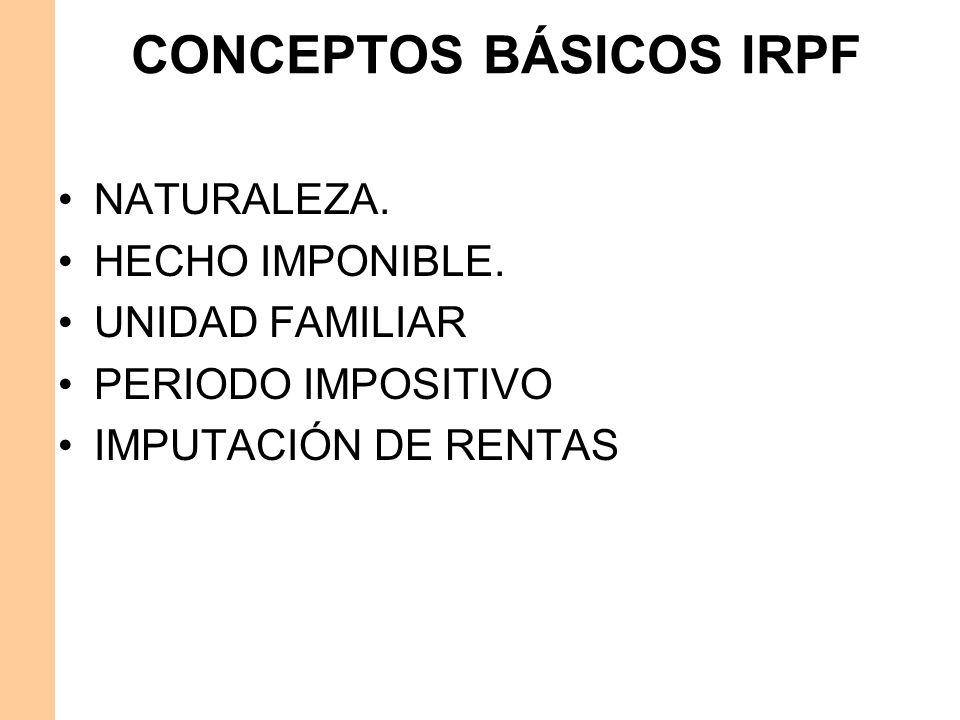 CONCEPTOS BÁSICOS IRPF