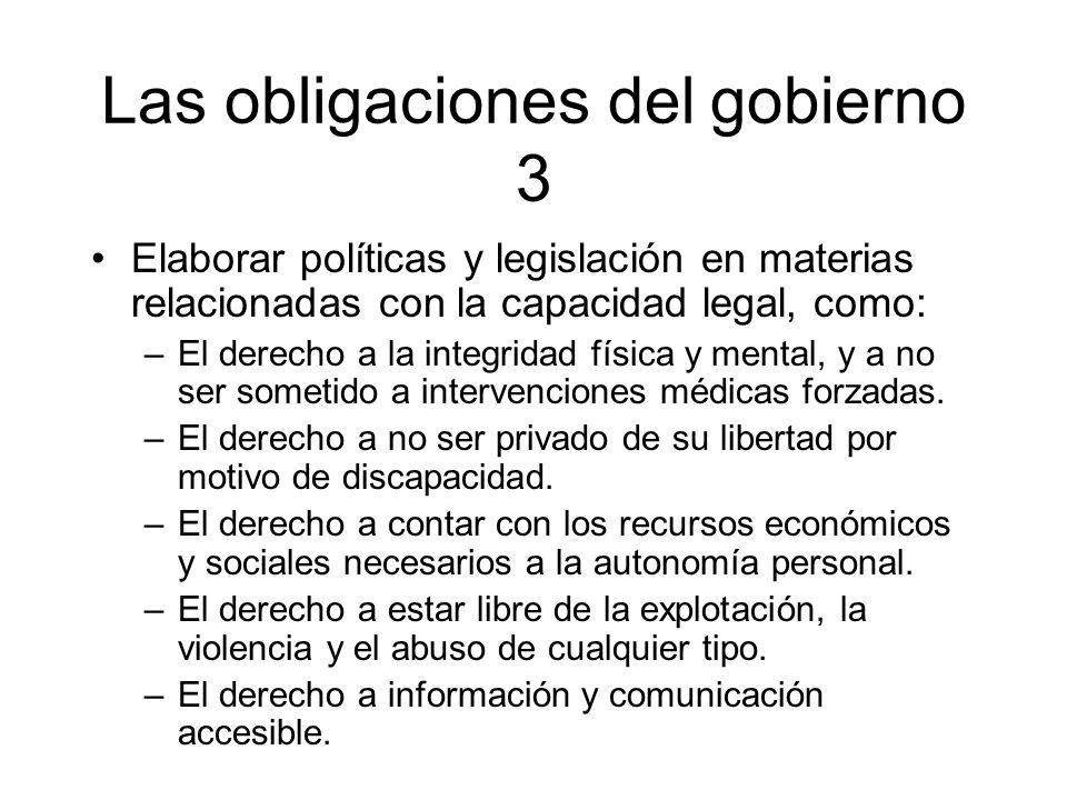 Las obligaciones del gobierno 3