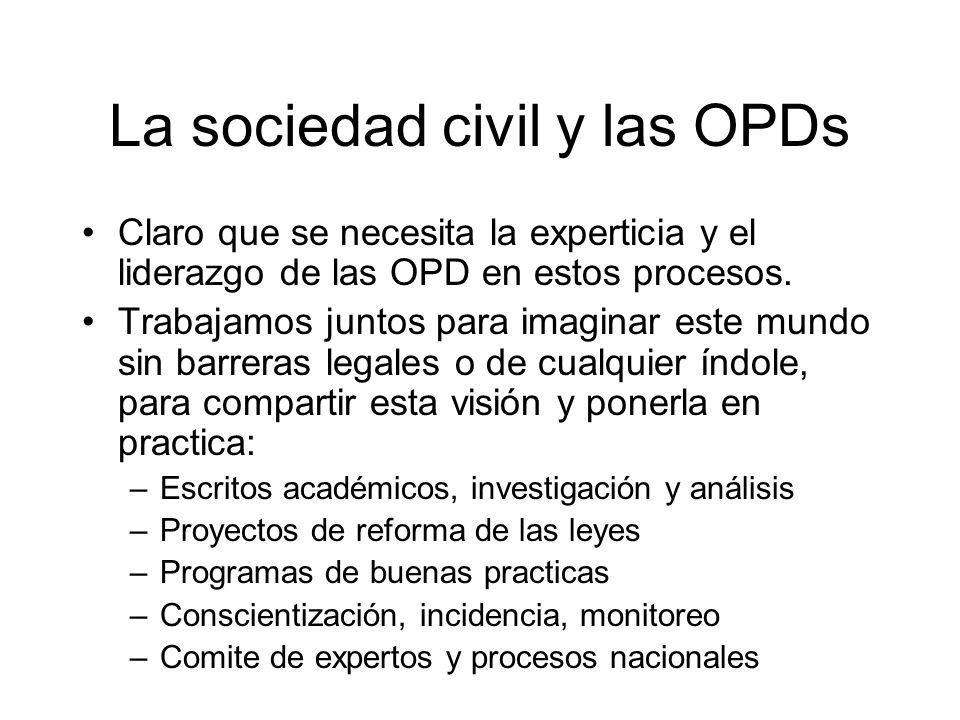 La sociedad civil y las OPDs