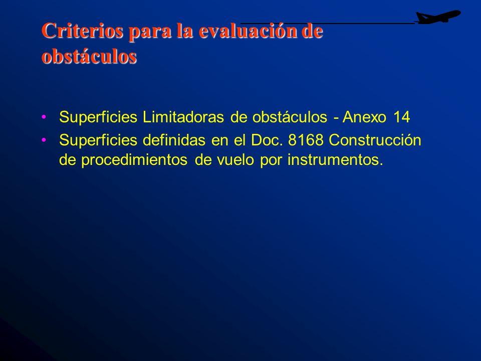 Criterios para la evaluación de obstáculos