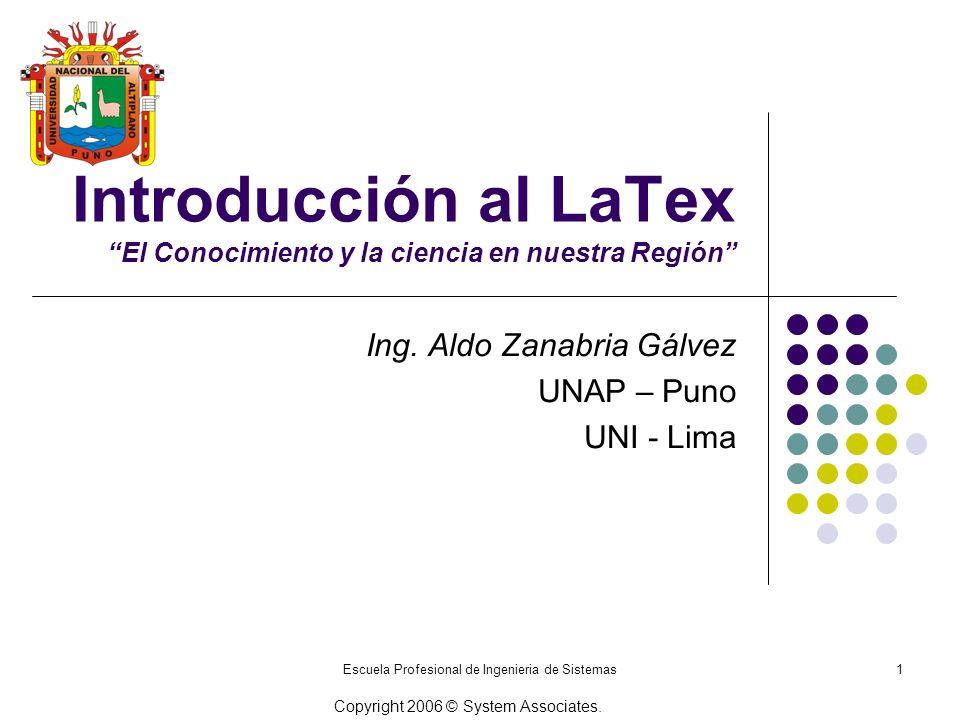 Introducción al LaTex El Conocimiento y la ciencia en nuestra Región