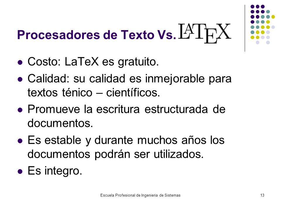 Procesadores de Texto Vs.