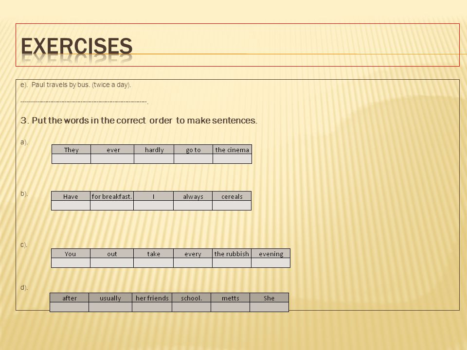 put the sentences in the correct order pdf