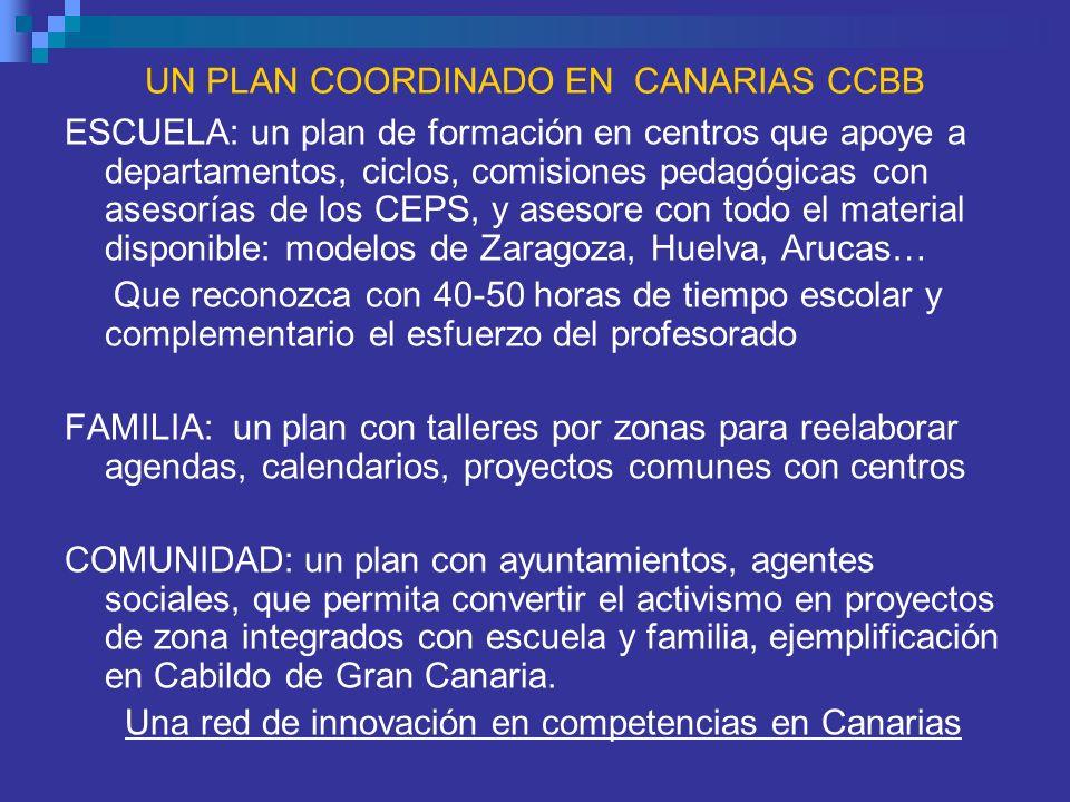 UN PLAN COORDINADO EN CANARIAS CCBB
