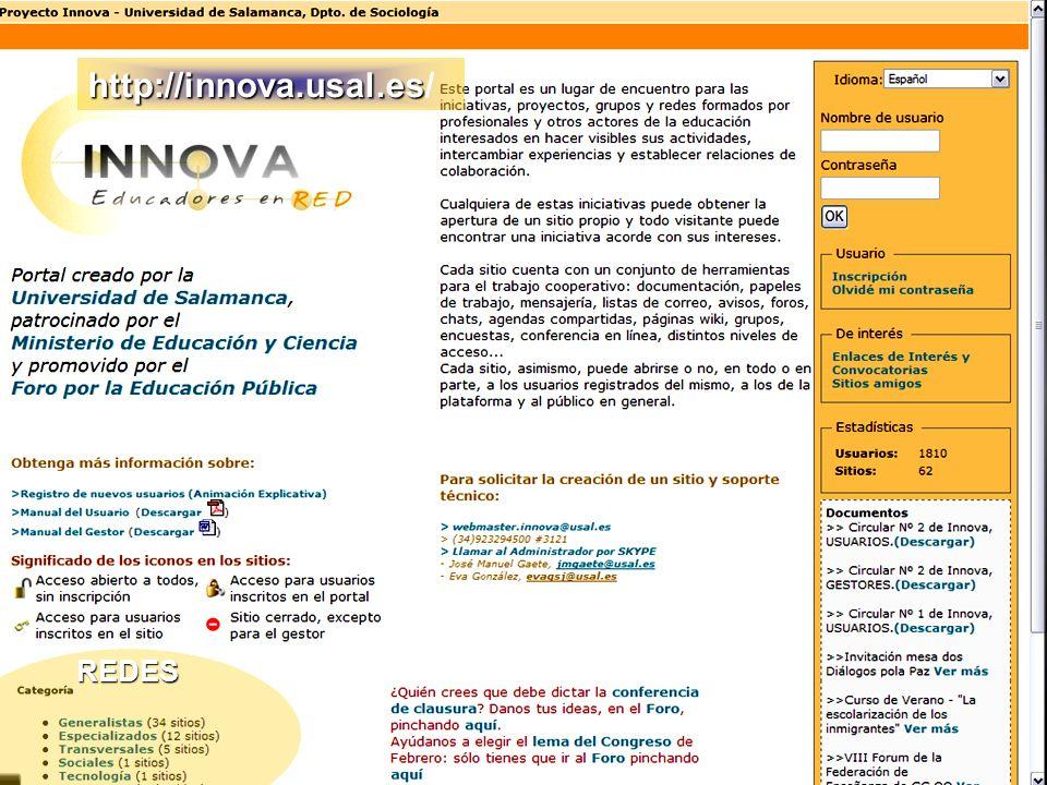 http://innova.usal.es/ REDES