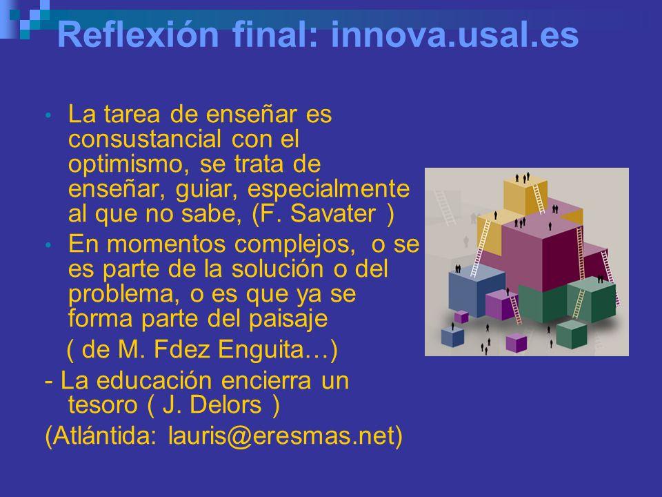 Reflexión final: innova.usal.es