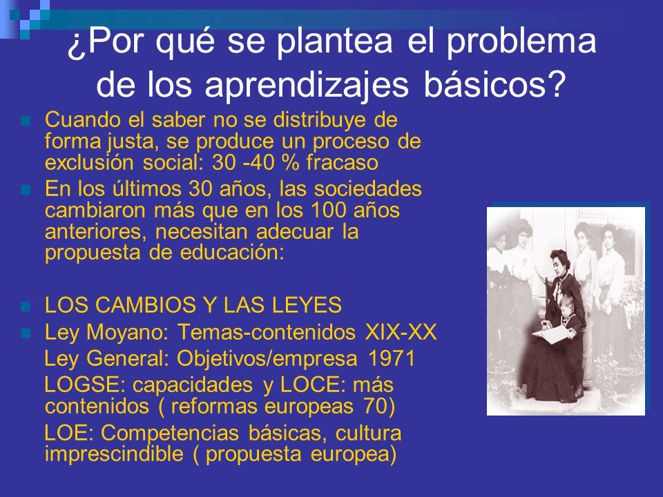 ¿Por qué se plantea el problema de los aprendizajes básicos
