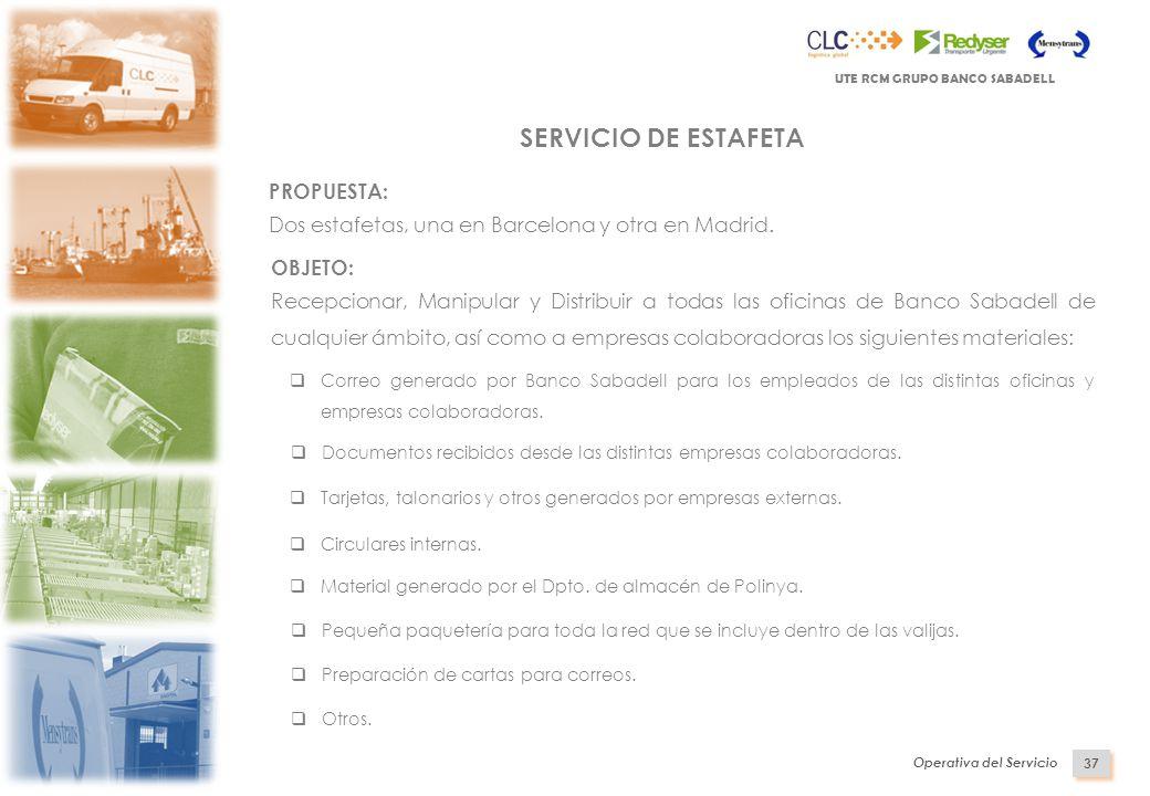 Indice presentaci n de ute rcm operativa del servicio plan for Horario oficinas sabadell
