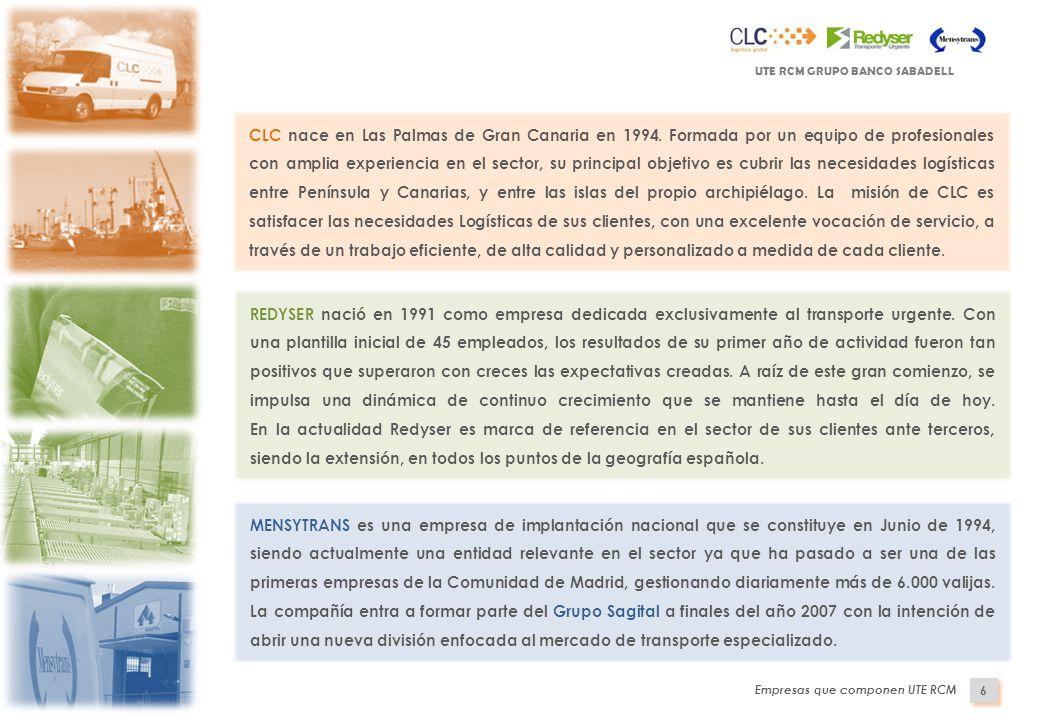 Indice presentaci n de ute rcm operativa del servicio plan - Transporte entre islas canarias ...