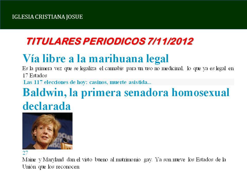 TITULARES PERIODICOS 7/11/2012