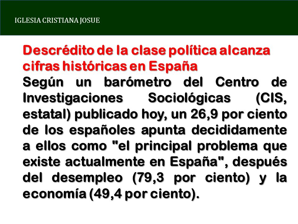 Descrédito de la clase política alcanza cifras históricas en España