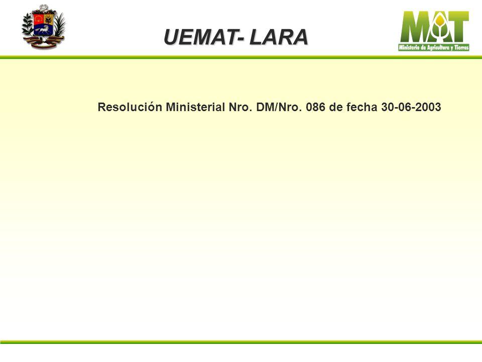 Resolución Ministerial Nro. DM/Nro. 086 de fecha 30-06-2003
