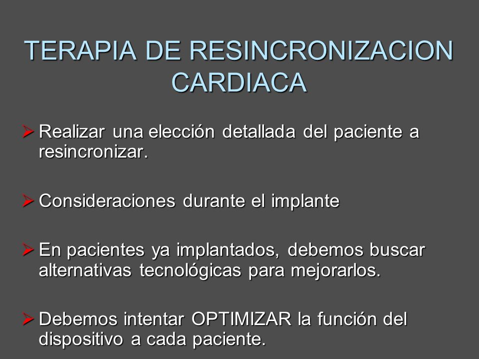 TERAPIA DE RESINCRONIZACION CARDIACA