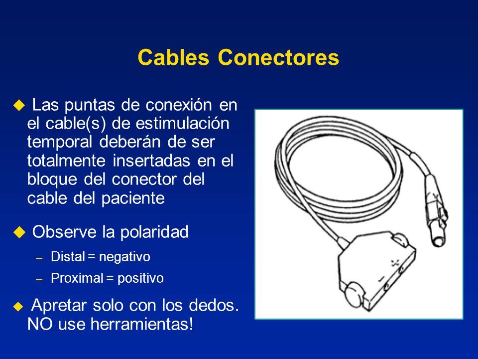 Cables Conectores Observe la polaridad
